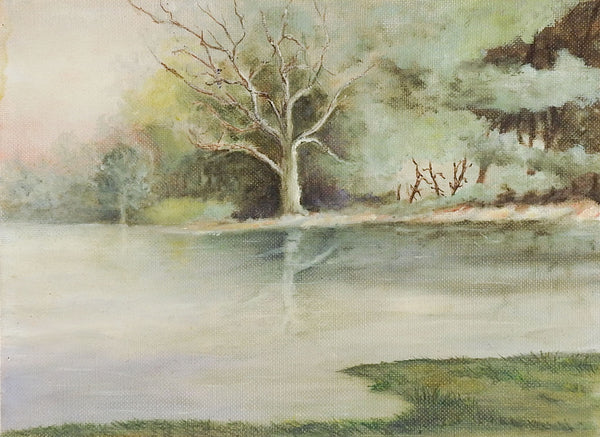 Small Lakeside Landscape Painting