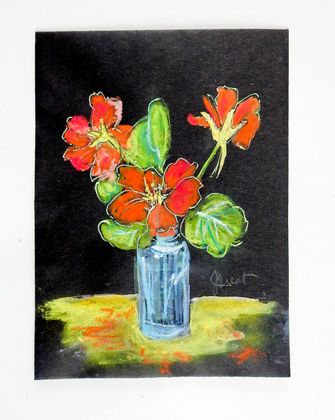 Floral Still Life Pastel Drawing