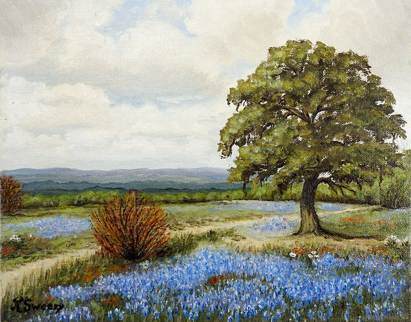 Texas Bluebonnets Painting