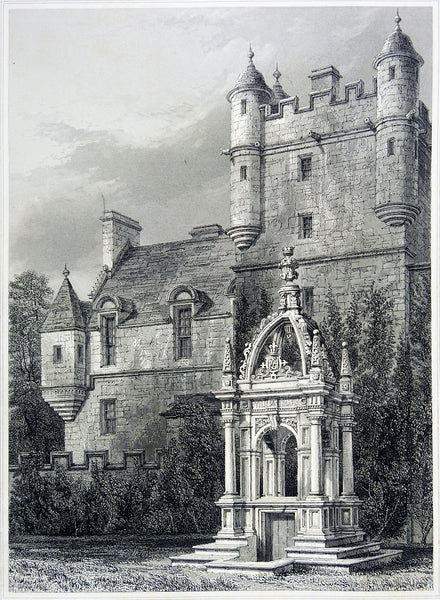 Castle & Crypt Etching Circa 1860's