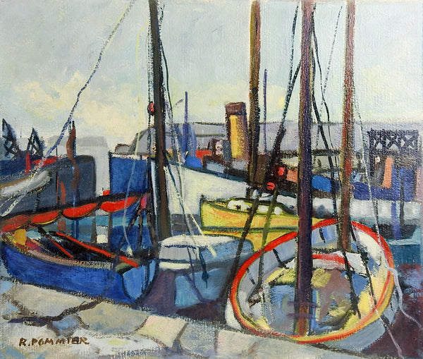 Modernist French Harbor Painting
