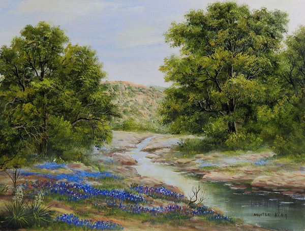Texas Bluebonnet Painting By Myrtle King
