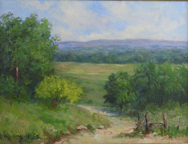 Texas Hill Country Landscape Painting By Hazel Massey