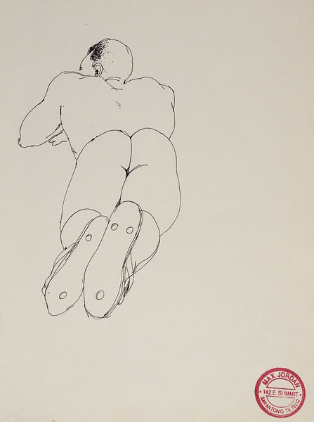 Male Nude Study Drawing By Max Jordan