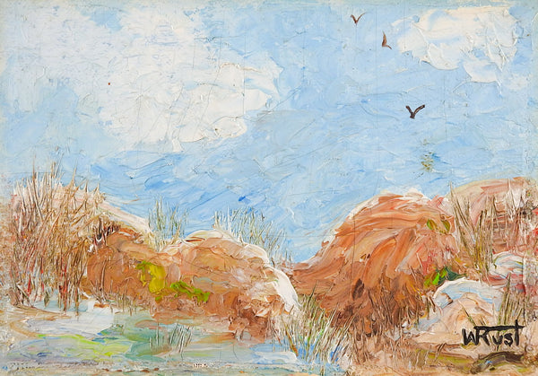 Small Impressionist Dunes Painting