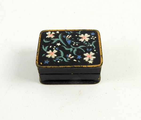 Vintage Brass Enameled Pill Box