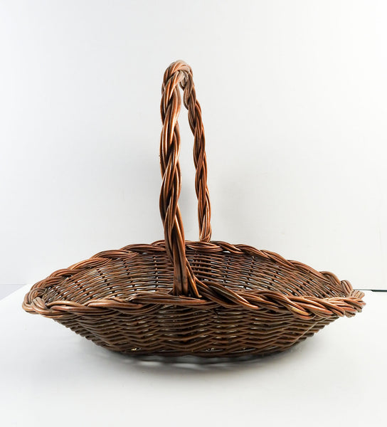 Reed Flower Gathering Garden Basket Circa 1950's