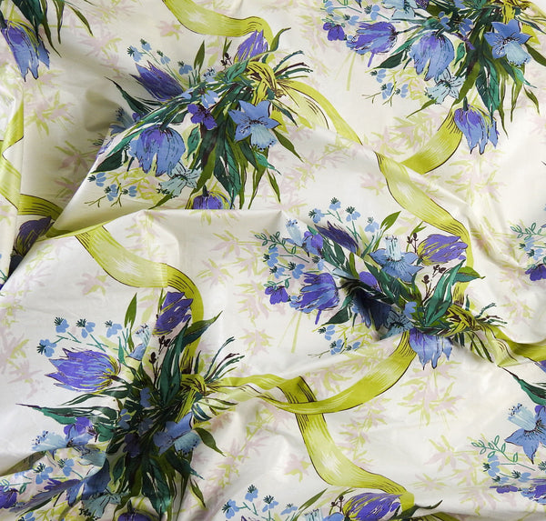 20+ Yards Vintage 1960's Floral Chintz Fabric
