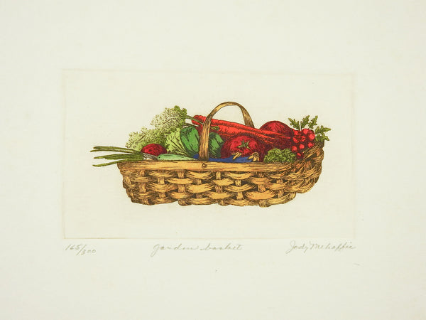 Garden Basket w/Veggies Etching