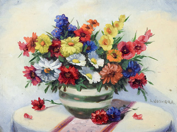 Wild Flower Still Life Painting