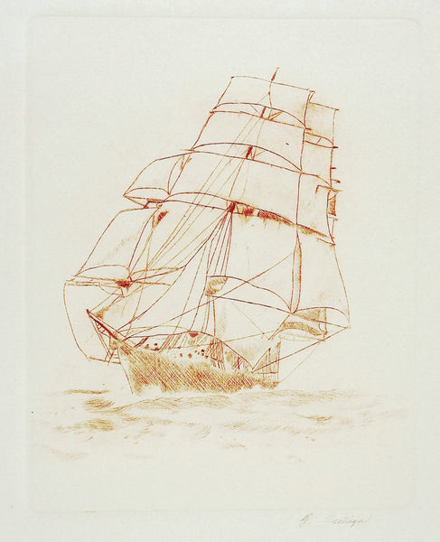 Sailing Ship Etching