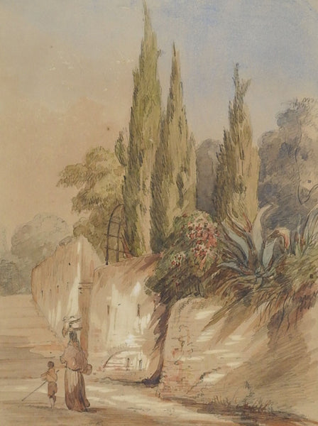 Circa 1900 Watercolor Painting of Cyprus