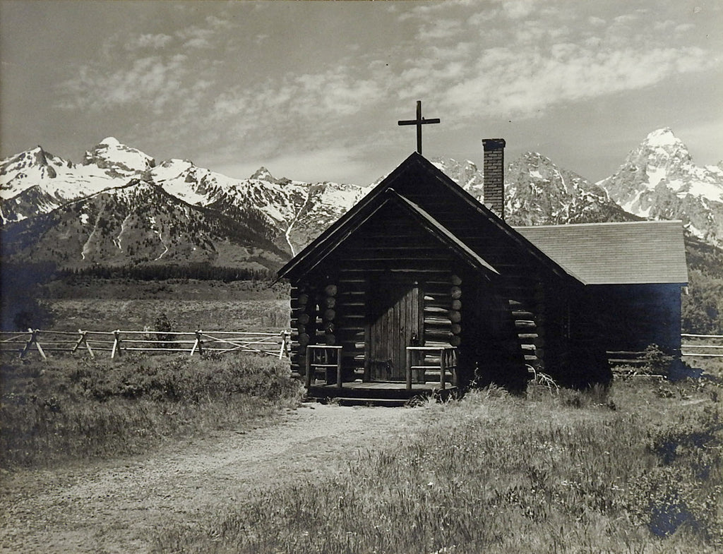 1950's Photograph Grand Teton's Log Chapel
