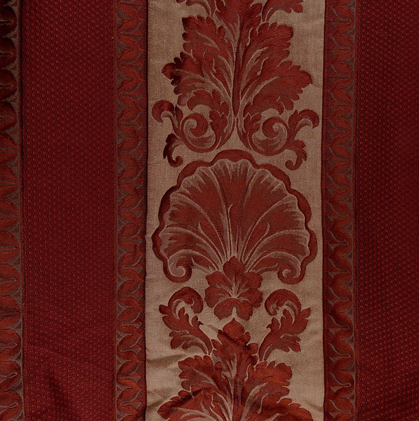 Deep Burgundy Vintage Upholstery Damask Fabric 6 Yards
