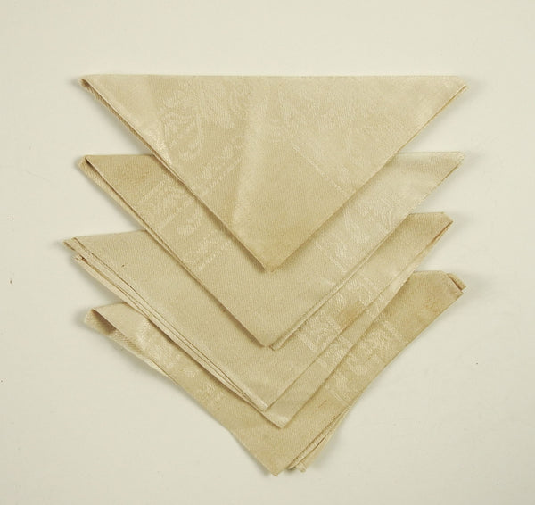 Antique Linen Damask Napkins - Set of 4