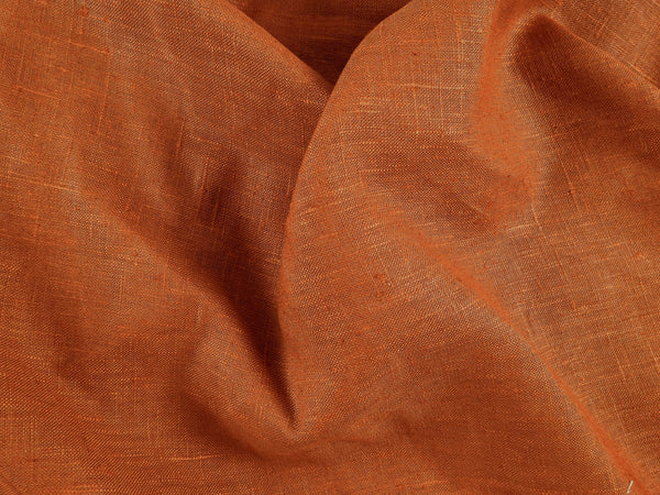 Rust Linen Fabric Drapery Weight 5 Yards