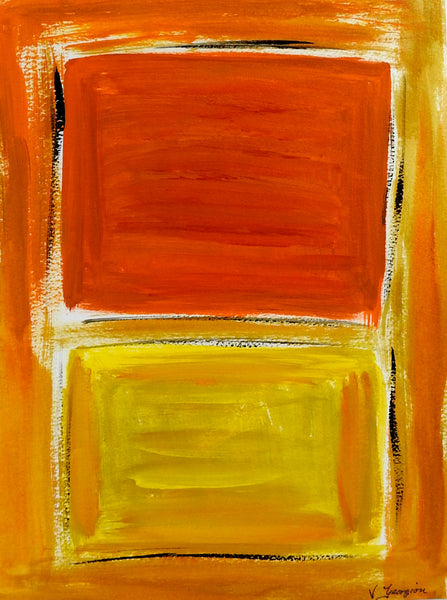 Orange & Yellow Abstract Painting