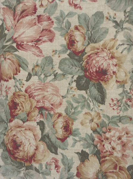 Cottage Rose Drapery Weight 5th Ave. Fabric 10 Yards