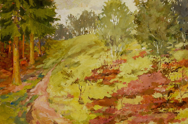 Impressionist Forest Landscape Painting