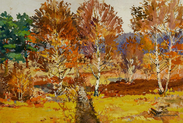 Birch Tree Landscape 1945 Painting