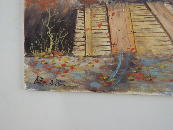 Small Rustic Bridge Painting