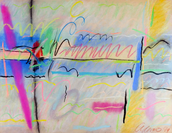 Bold Abstract Pastel Drawing