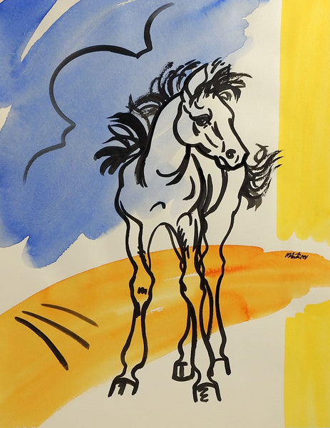 Modernist Horse Watercolor