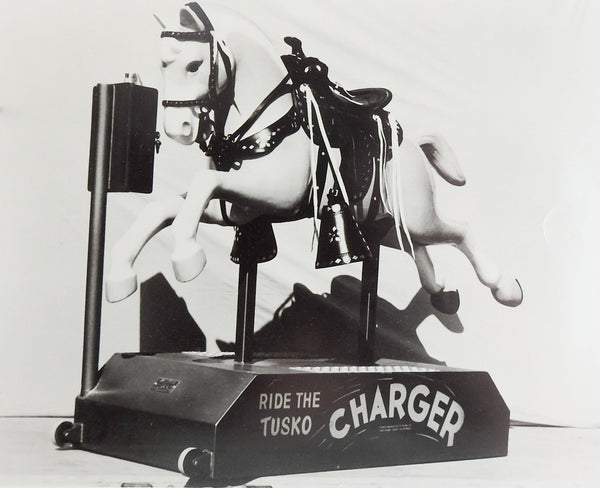 1950's Tusko Charger Kiddie Ride Photograph