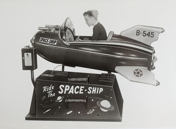 1950's Bally Space Ship Kiddie Ride Photograph