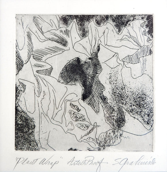 Botanical Abstract Etching