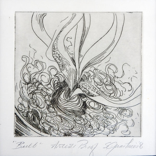 Abstract Botanical Etching