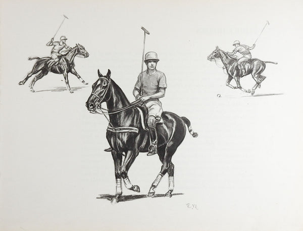Edwin Megargee Polo Player Print