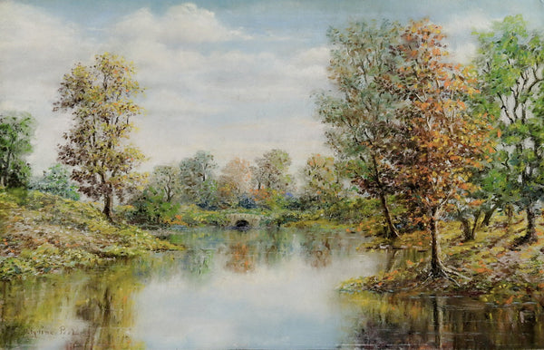 Lake Landscape Pastel Painting