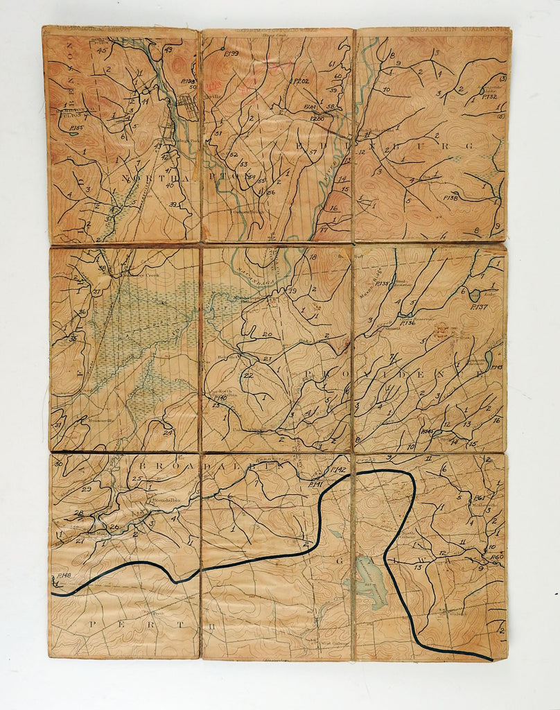 Broadalbin New York 1902 US Geological Survey Folding Map