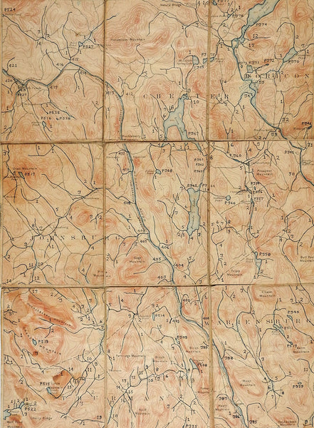 North Creek New York 1897 US Geological Survey Folding Map
