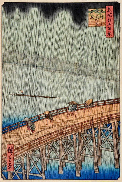 Hiroshige Sudden Shower Woodblock Print