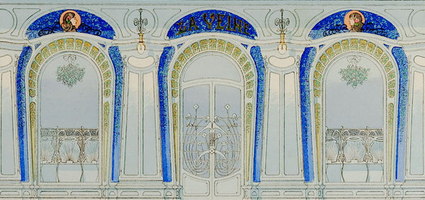 French Art Nouveau Decorative Pochoir Print
