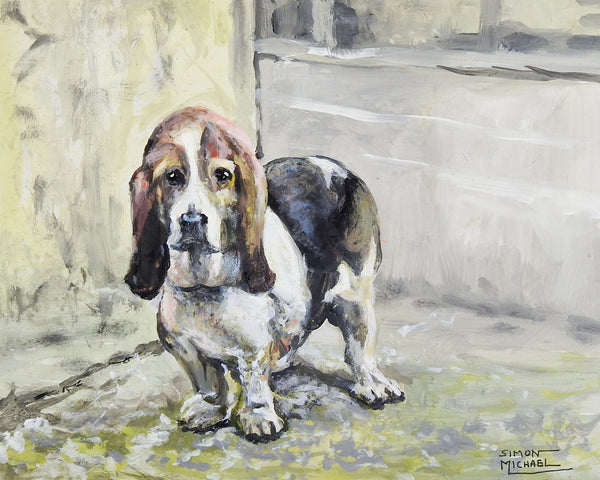 Basset Hound By Simon Michael Painting