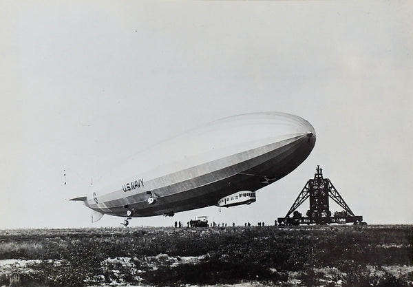 US Navy Zeppelin Air Ship USS Los Angeles Photograph