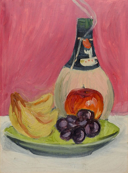 Wine & Fruit Still Life Painting