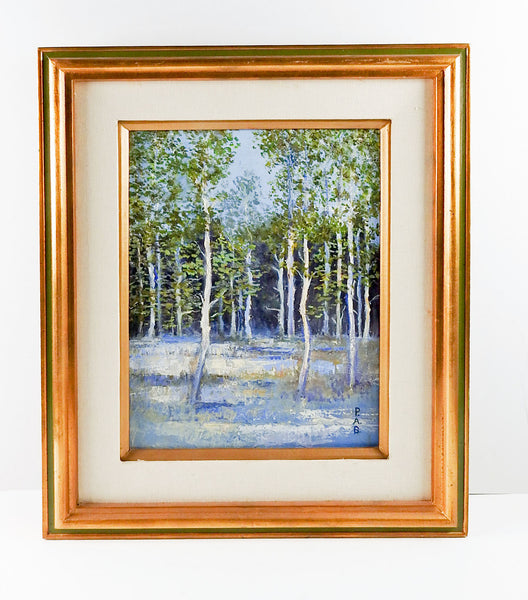 Impressionist Forest In Blue Painting