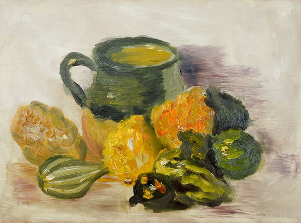 Autumn Kitchen Still Life Painting