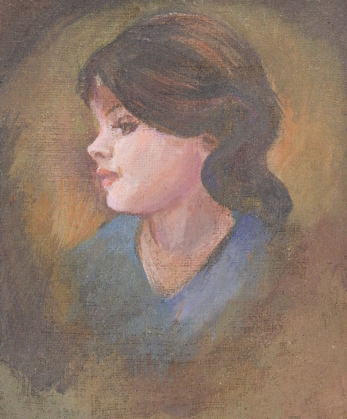 Portrait of Young Woman Painting