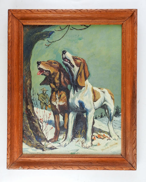 Hunting Dogs In Winter Painting