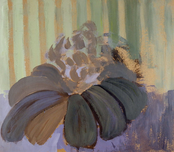 Impressionist Purple Cone Flower Painting