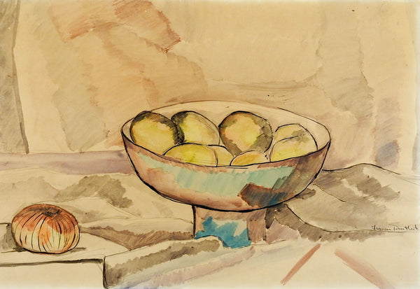 Modernist Still Life Watercolor Painting