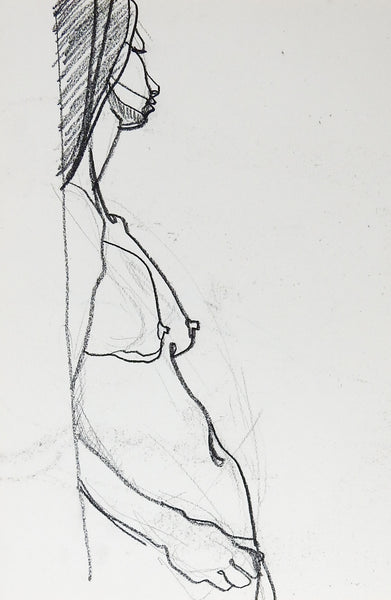Nude Study Drawing of Woman Plus Another 2 in 1