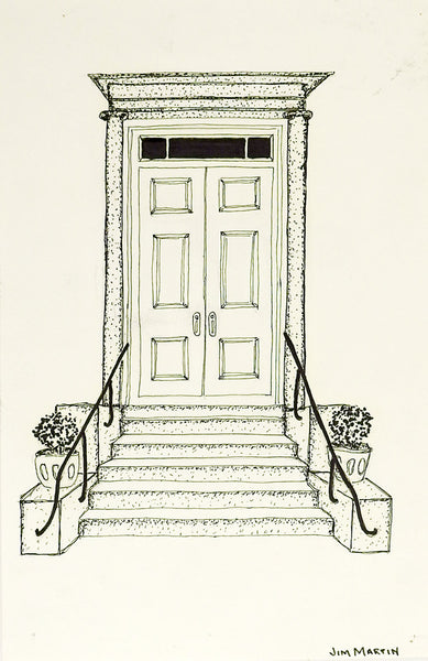 Small Drawing of Architectural Entrance