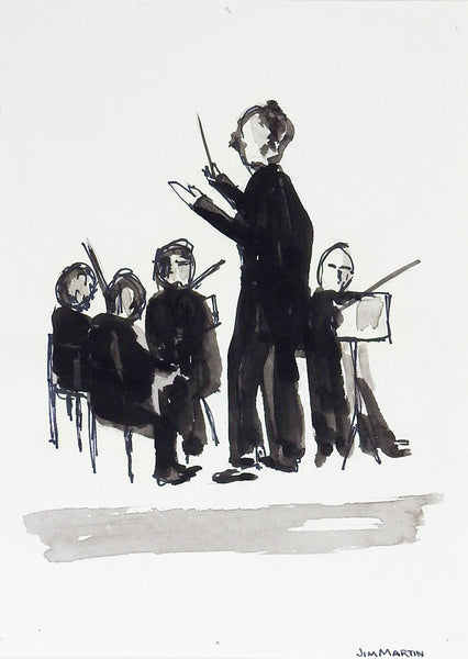 Small Drawing of Orchestra