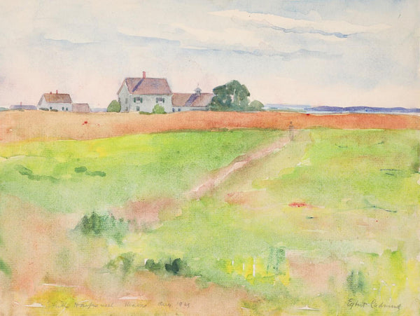 1921 Egbert Cadmus South Harpswell Maine Watercolor Painting